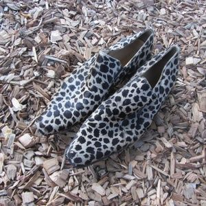 Steve Madden Leopard Calf Hair Loafer Shoes